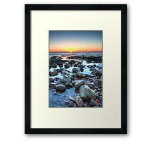 Sunrise over Winchelsea Beach Framed Print