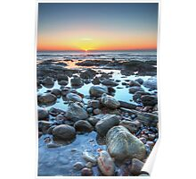 Sunrise over Winchelsea Beach Poster
