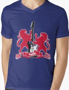 British Rock Guitar Mens V-Neck T-Shirt