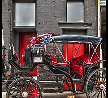 Black & Red Carriage by Michel Godts