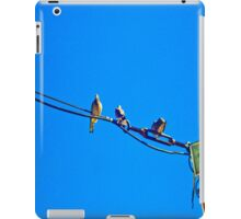 Meeting of pigeons in a blue sky. iPad Case/Skin