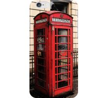 Red/Graffiti Phone Box iPhone Case/Skin