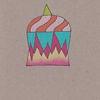 Flaming Unicorn Cupcake by Kelly Cree