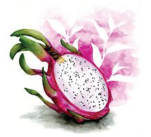Dragonfruit Green Tea by Becky Moran