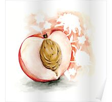 White Peach Jasmine (with chrysanthemum) Poster