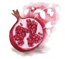 Raspberry Pomegranate Herbal Tea by Becky Moran