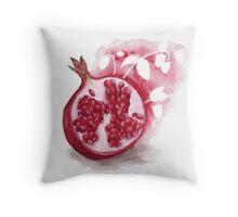 Raspberry Pomegranate Herbal Tea Throw Pillow