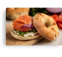 Bialy with Cream Cheese and Lox Canvas Print