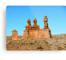 Desert Sculptures Metal Print