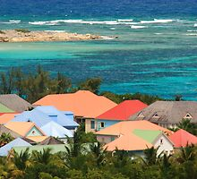 Colorful Island Houses by Roupen  Baker