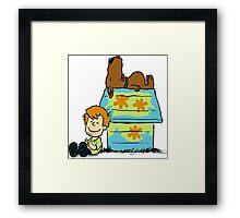 Scooby Doo Peanuts Framed Print