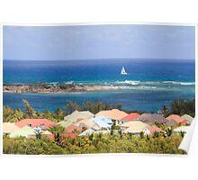 Orient Bay scenic vista, St. Martin Poster