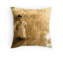 Silent Shore Throw Pillow