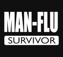 Man flu survivor - funny design for brave men by headpossum