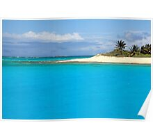 Turquoise Caribbean Poster