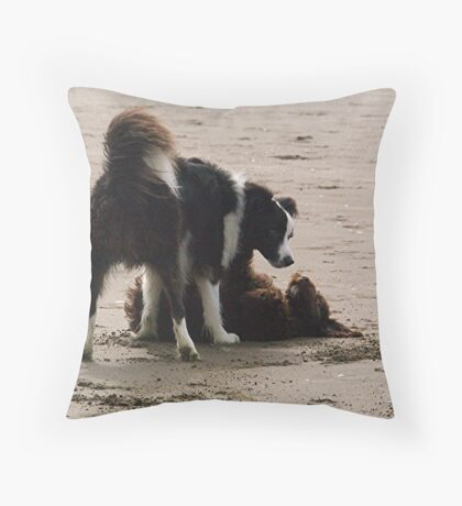 Ollie and Mollie - in love.......! Throw Pillow