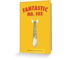 Fantastic Fox Tie Poster Greeting Card