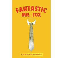 Fantastic Fox Tie Poster Photographic Print