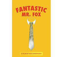 Fantastic Fox Tie Poster Photographic Print