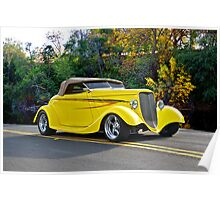 1934 Ford Roadster Gold Country Poster