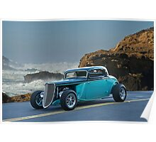 1934 Ford Coupe Pacific Coast Cruz'n 2 Poster