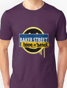 Believe in Sherlock London Underground Unisex T-Shirt