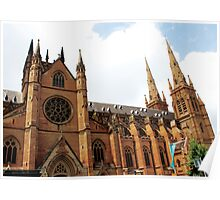 Saint Mary's Cathedral in Sydney Poster