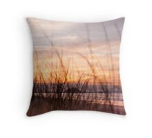 through the grasses Throw Pillow