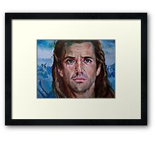 Mel Gibson in Brave heart Framed Print