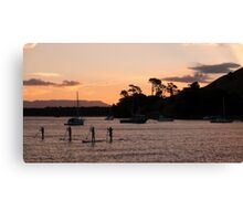 paddle boarders Canvas Print