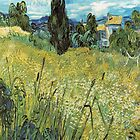 Green Wheat Field with Cypresses - Van Gogh by skyeaerrow
