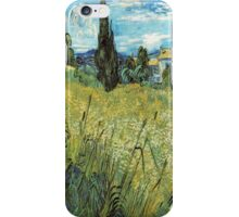 Green Wheat Field with Cypresses - Van Gogh iPhone Case/Skin