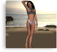 Suit in Swimsuit Canvas Print