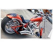 Red & Chrome Chopper Poster