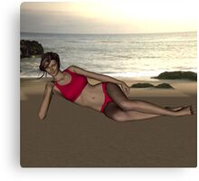 Ariana Tisdale in Swimsuit Canvas Print