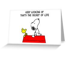 Snoopy Secret of Life Greeting Card