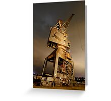 Cockatoo Island night Crane Greeting Card