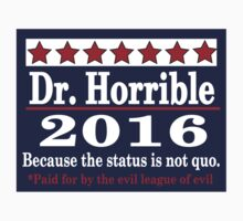 vote Dr. Horrible 2016 Kids Tee