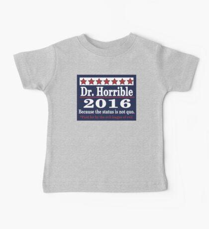 vote Dr. Horrible 2016 Baby Tee