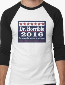 vote Dr. Horrible 2016 Men's Baseball ¾ T-Shirt