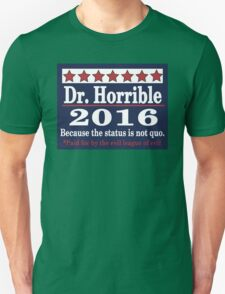 vote Dr. Horrible 2016 Unisex T-Shirt