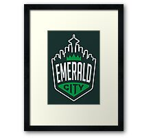 Emerald City // America League // PCGD Framed Print