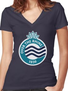 Over The Rhine // America League // PCGD Women's Fitted V-Neck T-Shirt