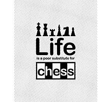 Chess v Life - White Graphic Photographic Print