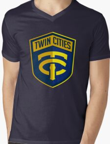 Twin Cities // America League // PCGD Mens V-Neck T-Shirt