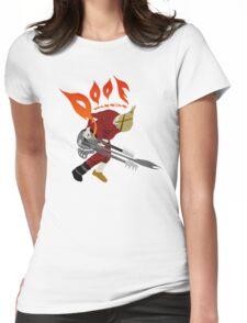 DOOF Warrior VS The World fan art Womens Fitted T-Shirt
