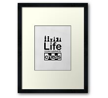 Chess v Life - Carbon Fibre Finish Framed Print