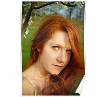 Windy Spring Portrait Poster