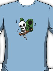 Adventure Time Keytar Skull Butterfly T-Shirt