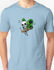 Adventure Time Keytar Skull Butterfly Unisex T-Shirt